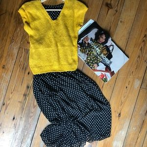 34b031ee Gamiss Dresses | Midi Black White Polka Dot Cotton Dress L | Poshmark